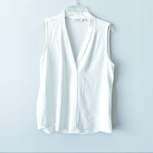 Calvin Klein Sleeveless White Blouse